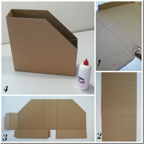 Organizing Idea 12x12 Paper Storage Box Inspiration Paper Storage Cardboard Furniture Cardboard Crafts
