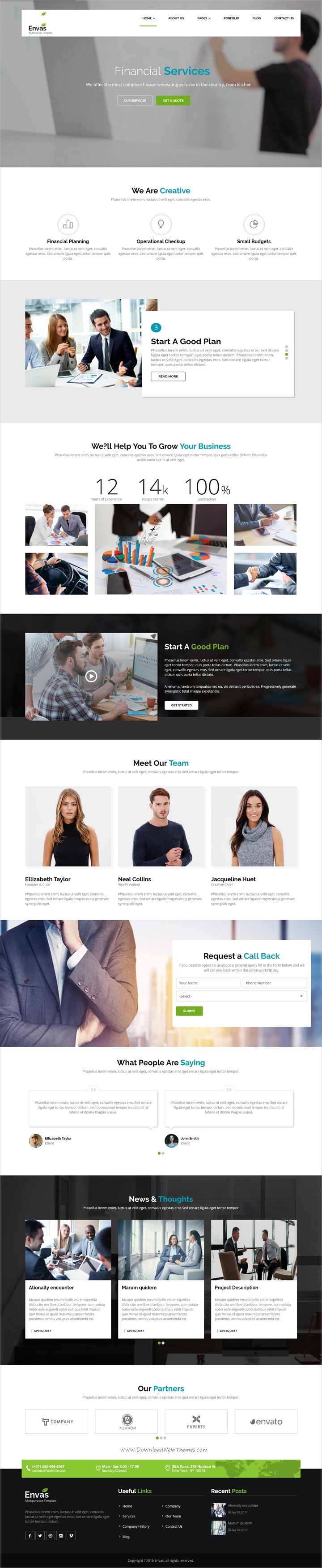 Envas Multipurpose Business Drupal 8 Theme