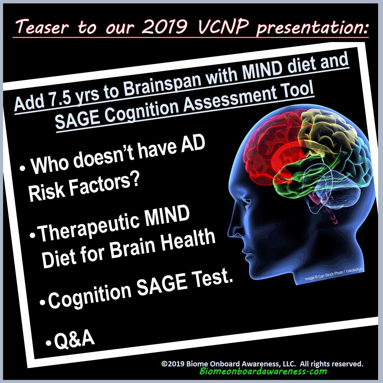 Prelude PDF of the MIND diet CME. 9 slides depicting