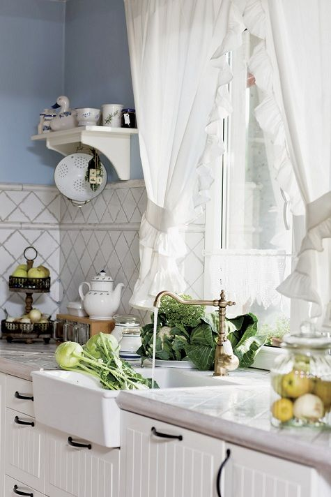 20 country kitchen curtains ideas