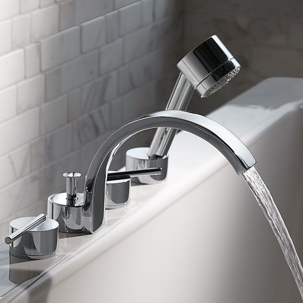 Dxv Rem Deck Mount Bathtub Faucet With Hand Shower Room