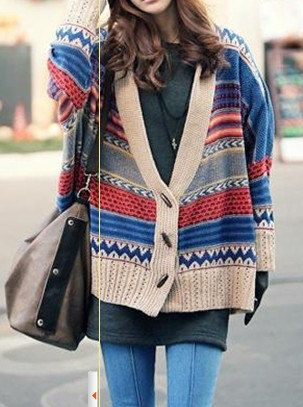VINTAGE Ladies Wemen/'s MODA Long Sleeve Ethnic Style Sweater