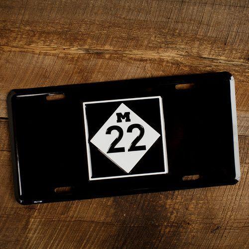 M22 LICENSE PLATE