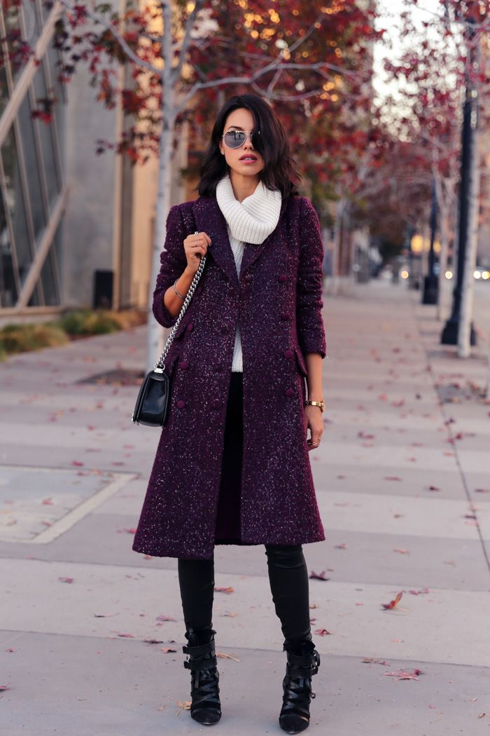 Burgundy Sequined Coat