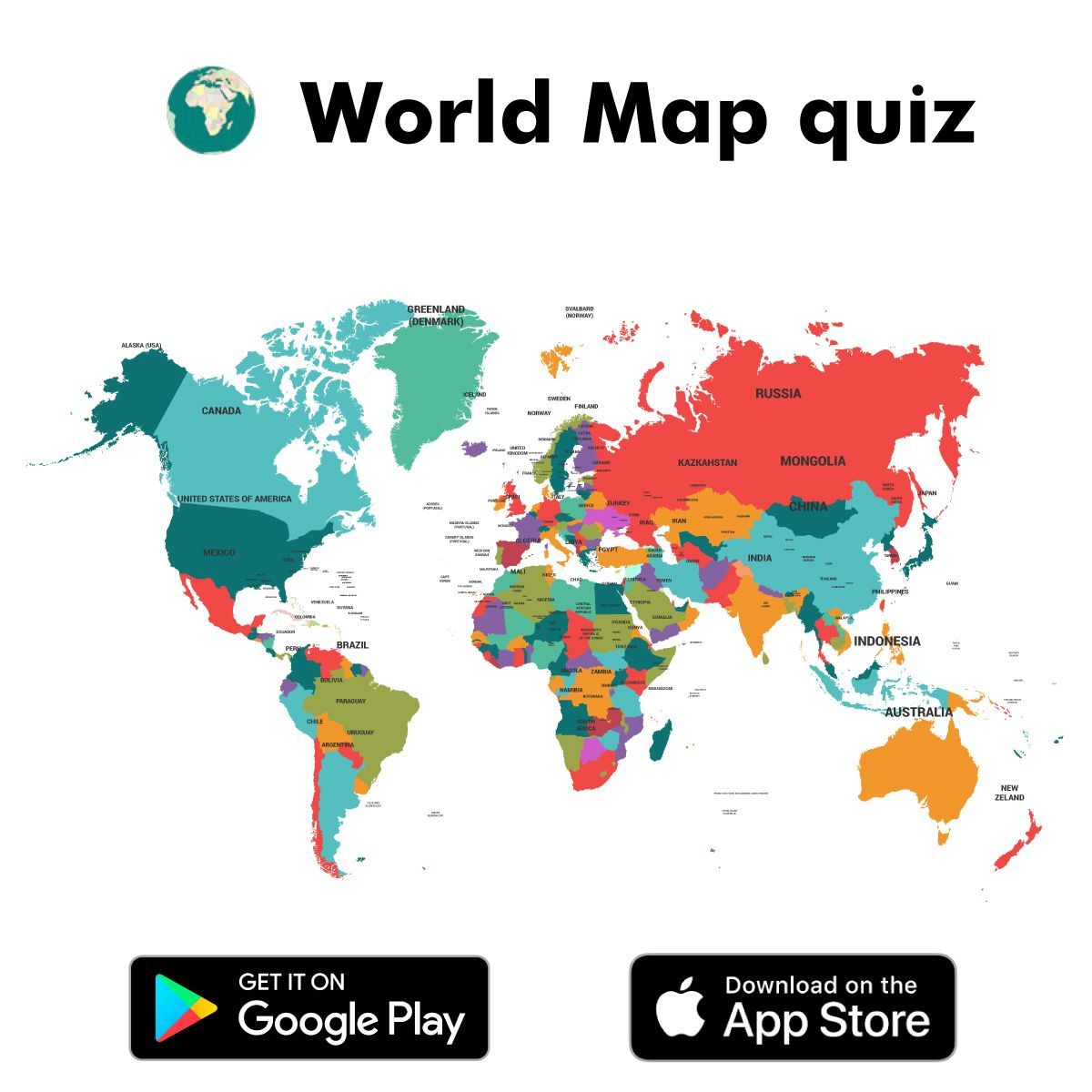 Map Of The World Quizzes World Map quiz app is an interesting app developed for kids that