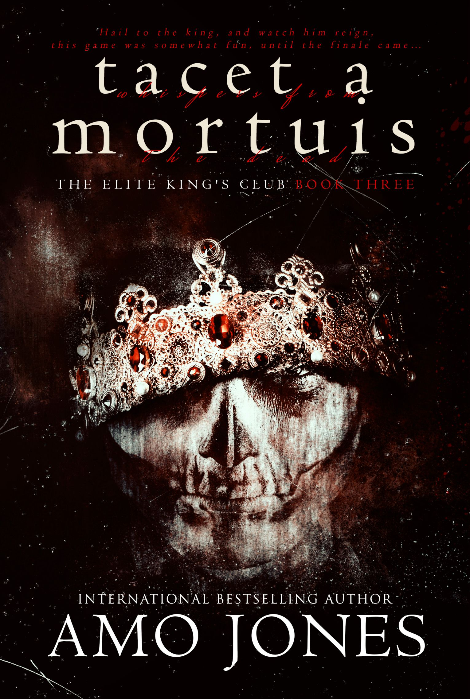 Cover Reveal Tacet A Mortuis By Amo Jones King Club Amo Beautiful Book Covers