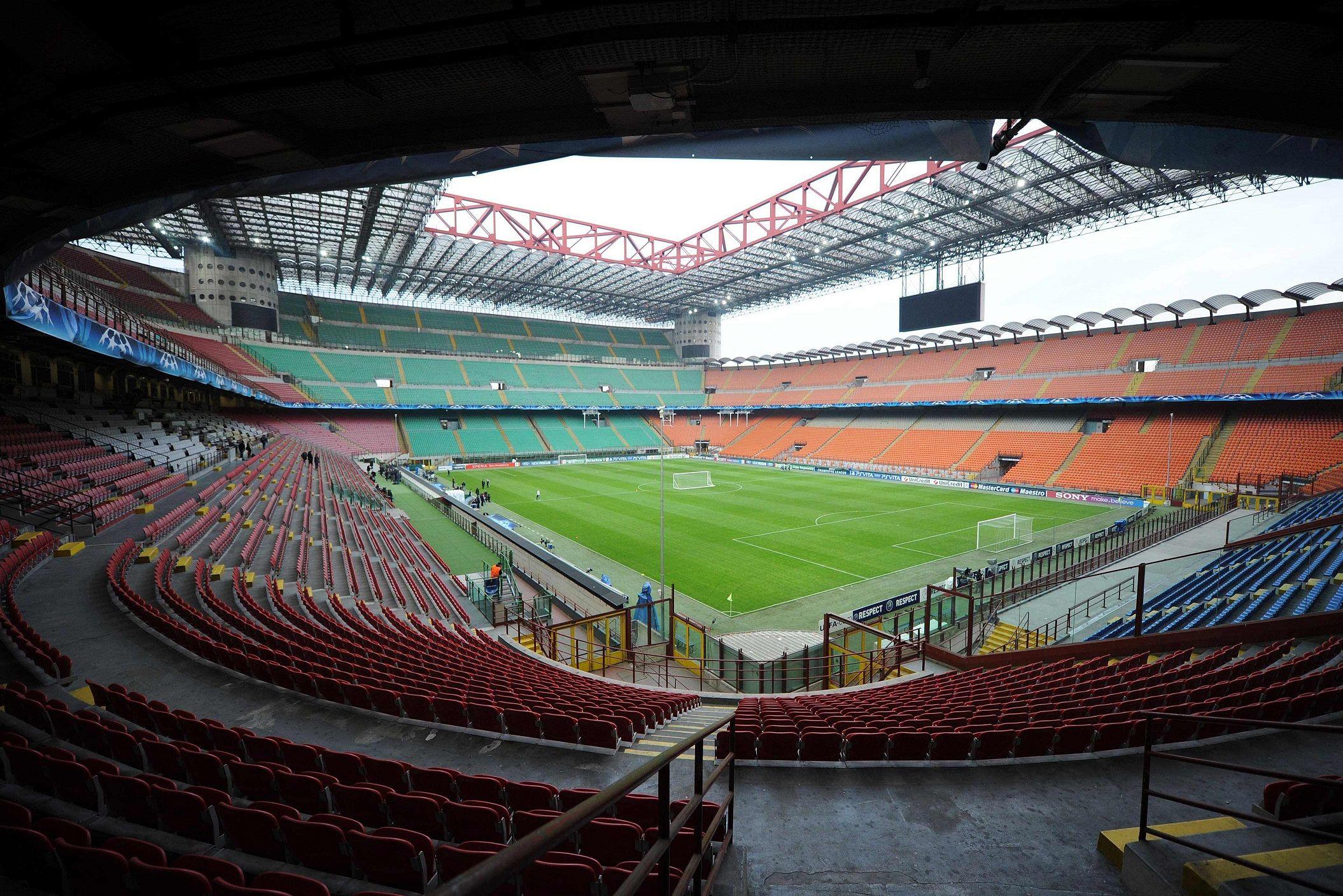 Capacidad 81 277 espectadores Equipos locales A C Milan y F C Internazionale En lineas generales cuando el Inter de Milán ejerce de equipo local