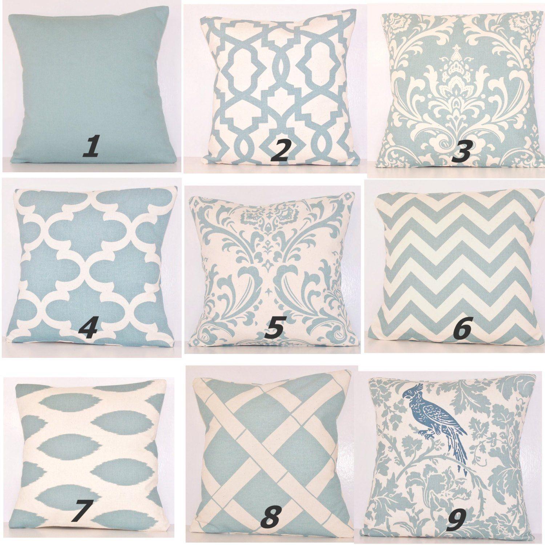 Stupendous Spa Blue Pillow Cover Pillow Toss Pillow Light Blue Pillow Inzonedesignstudio Interior Chair Design Inzonedesignstudiocom