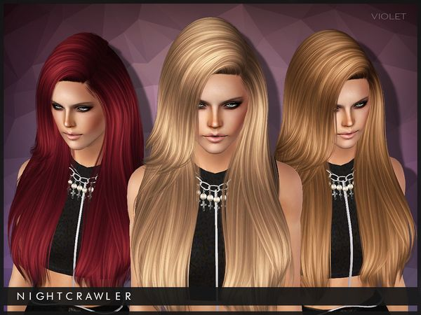 The Sims Resource Violet Hair By Nightcrawler Sims Sims 3