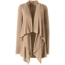 Photo of Plus size bamboo viscose waterfall cardigan – Brown – 56-58 from Lands 'End Lands' End