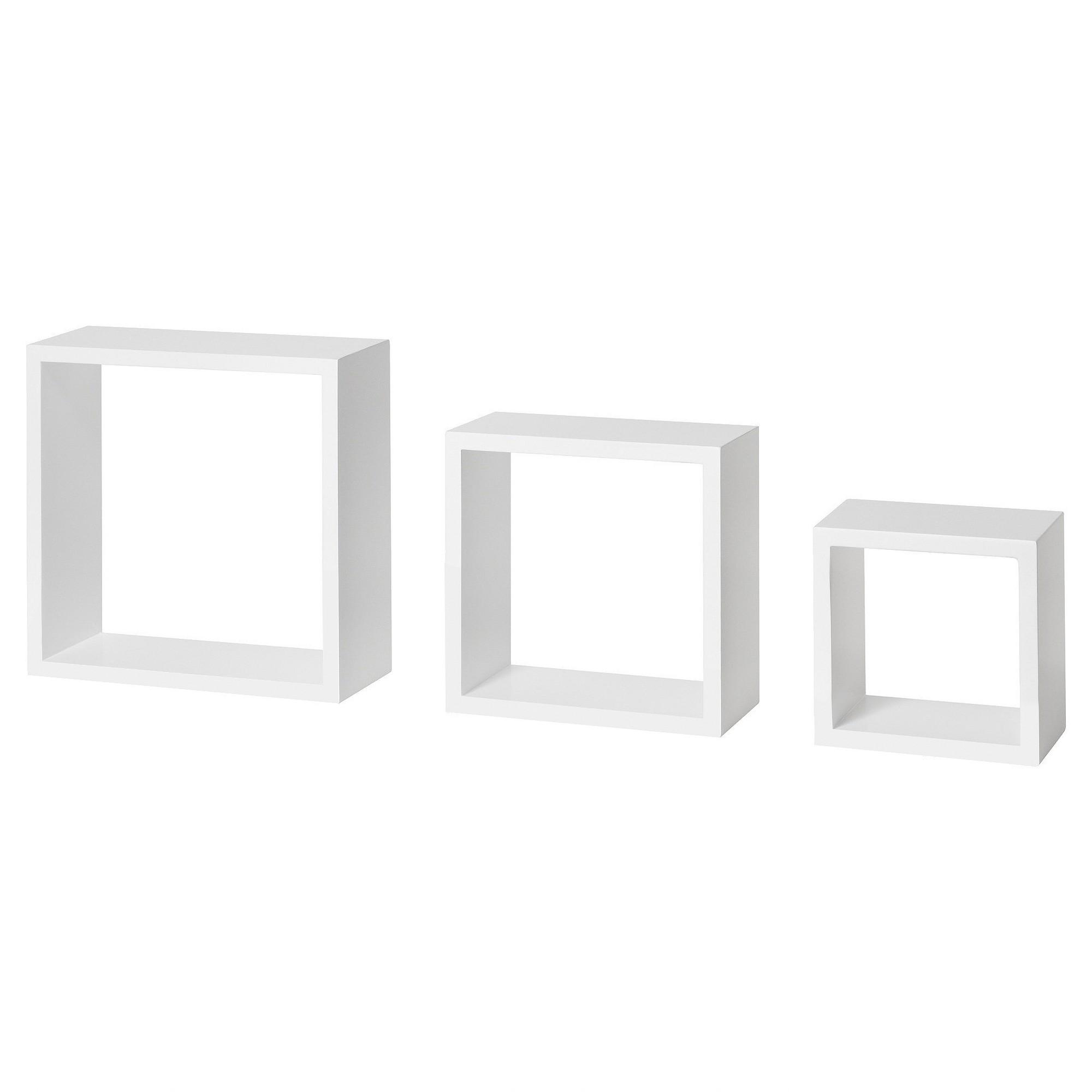Dolle Floating Shelf Set of Box Frames - White | Kids Shared ...