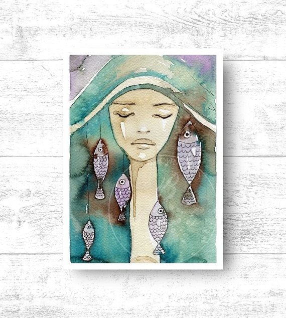 Giclee Art Print size 22x32 cm. fp 15. llustration by PracowniaKBG, $23.14