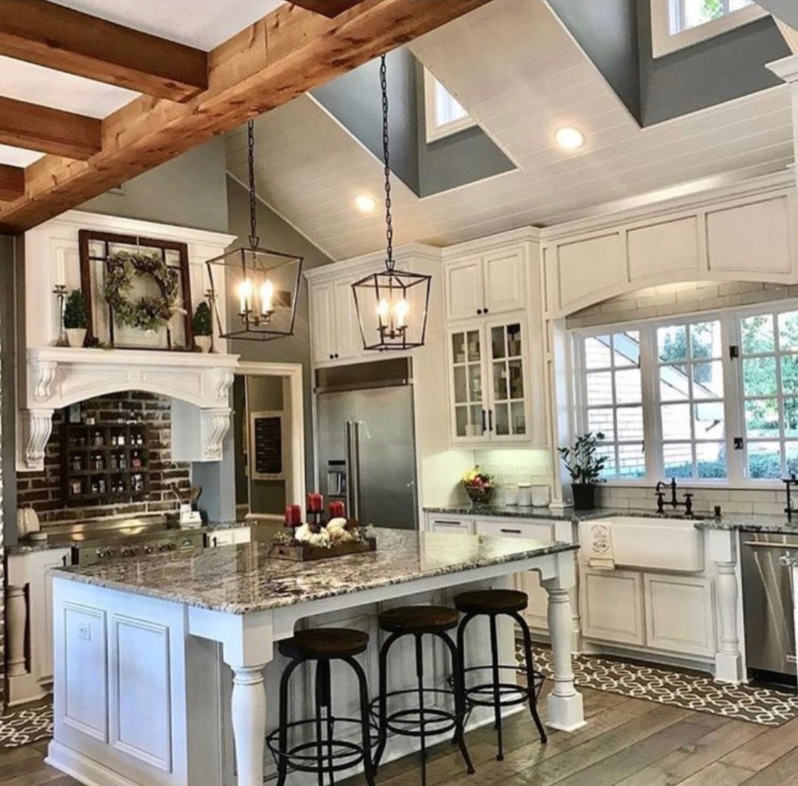 absolutely love this minus the white cabinets home interior rh pinterest com