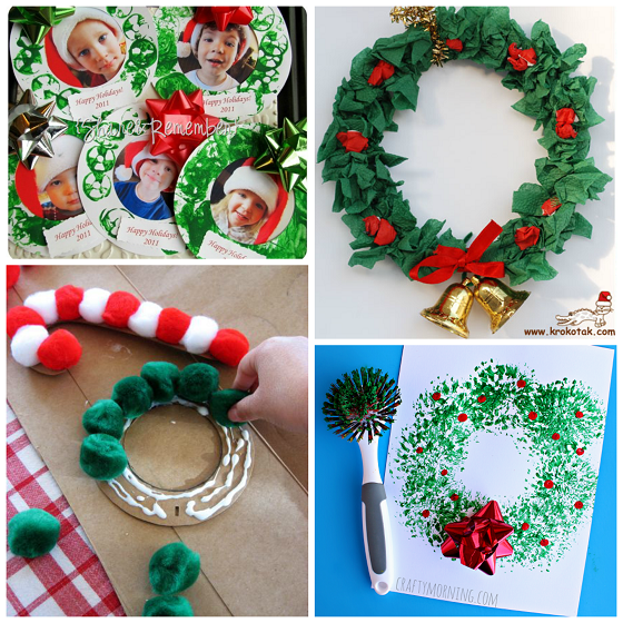 christmas wreath craft ideas