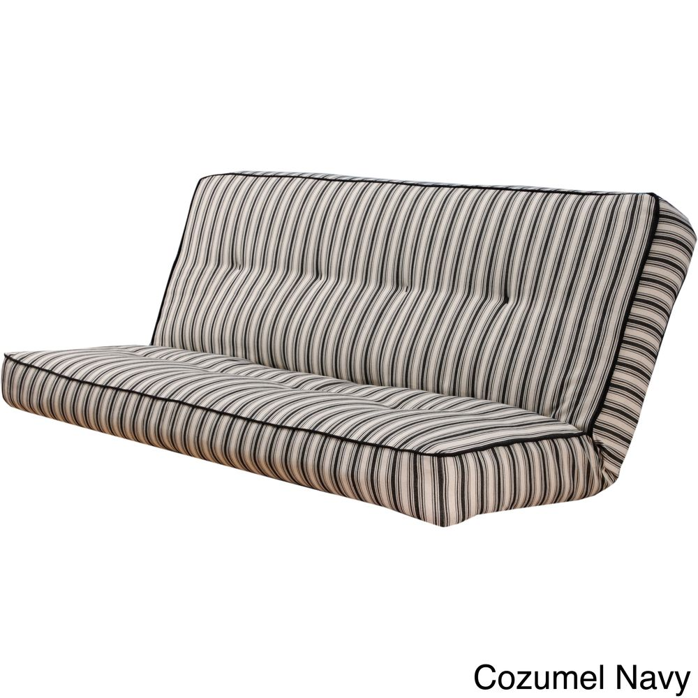 for built in bed stripe full size futon cover overstocka shopping