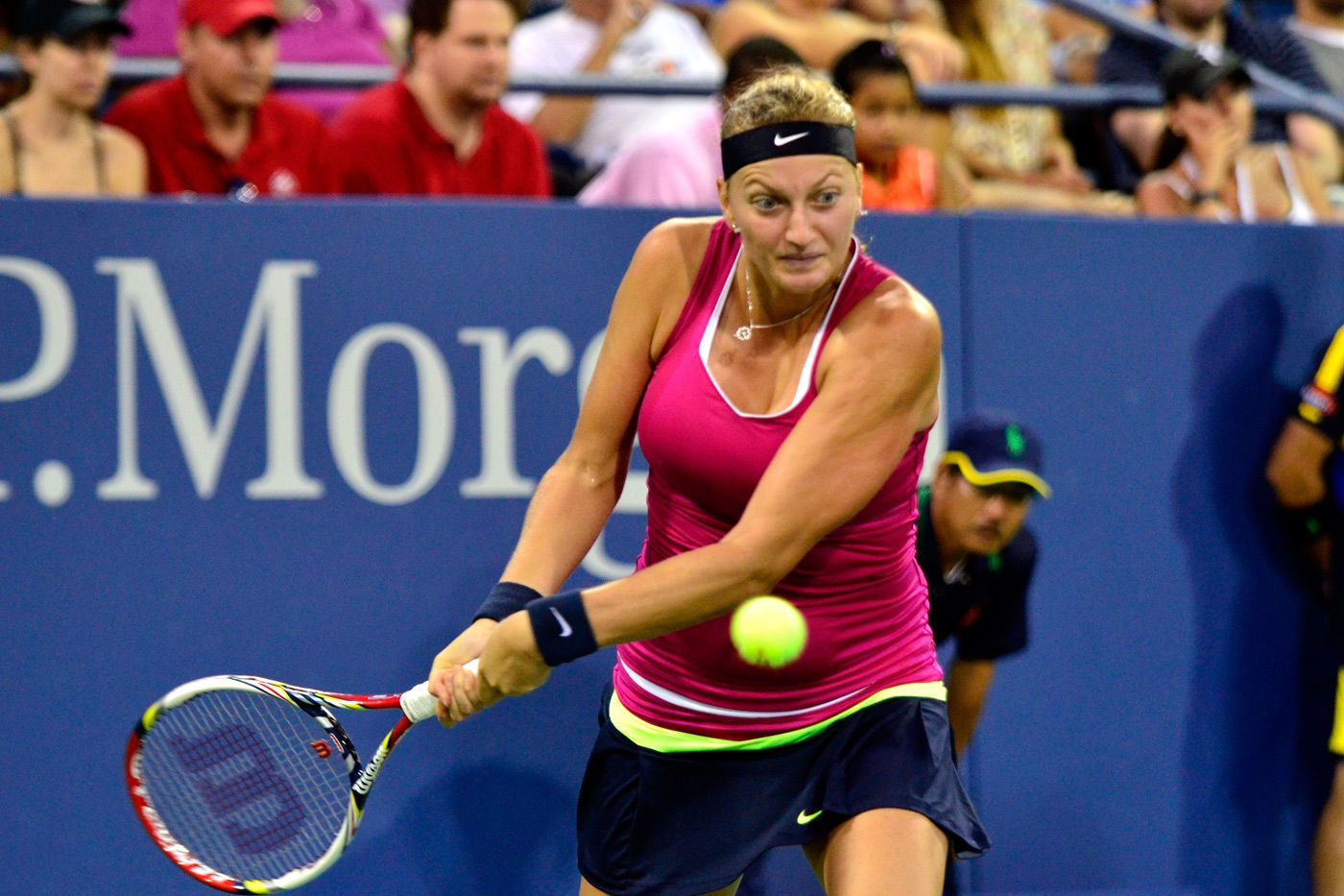 Petra Kvitova Cze 5 Was Defeated By Marion Bartoli In The Fourth Round Of The 2012 Us Open Don Starr Usta Marion Bartoli Kvitova Petra Starr