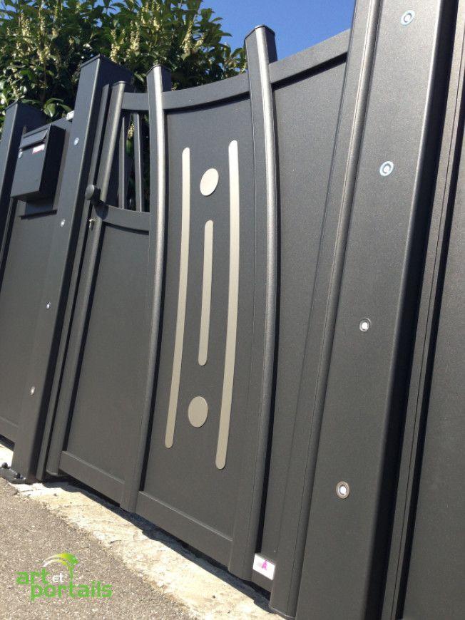 portail alu aux courbes intemporelles le choix du design au juste prix art et portails metal. Black Bedroom Furniture Sets. Home Design Ideas