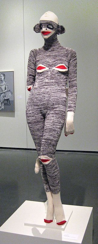 Liz CollinsSock Monkey SuitWool, angora, cashmere, and silk yarn68in x 18in x 18in