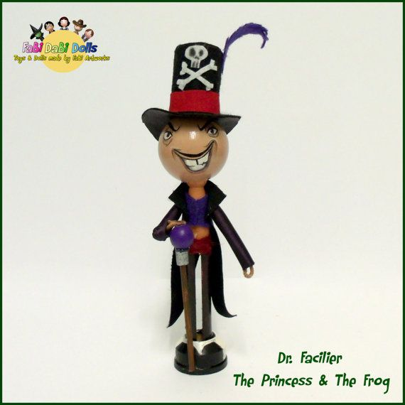 Dr Facilier  Princess and the frog Peg Doll from by totallyfabi
