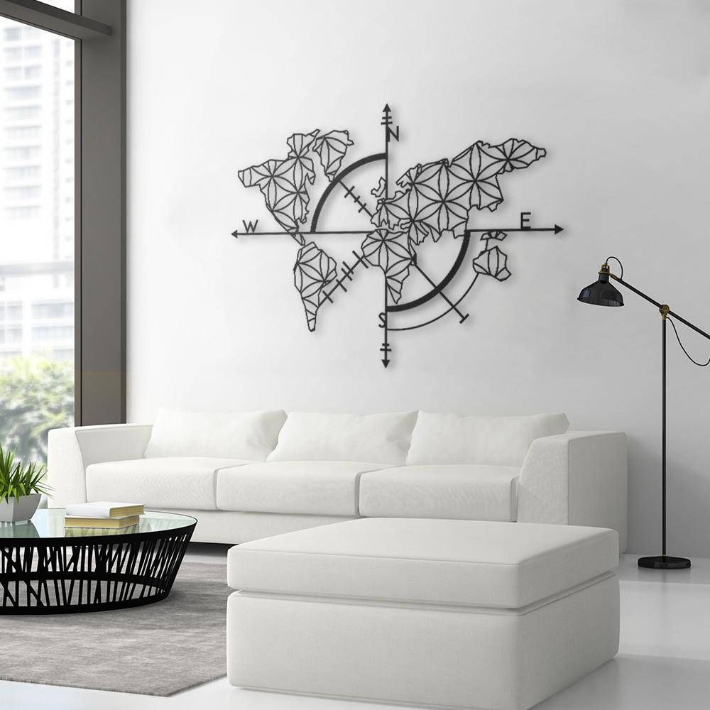 Map of Life Metal World Map Metal Wall Decor Metal Wall Art
