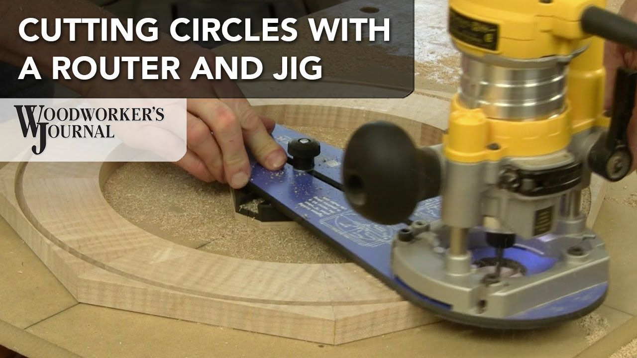 How To Cut Circles With A Router And Jig Diy Home Remodel In 2018