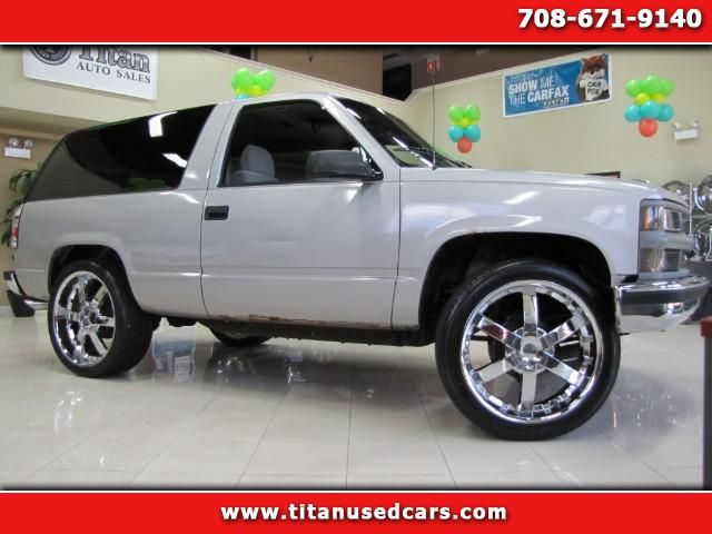 Used 1996 Chevrolet Tahoe 2 Door 4wd For Sale In Worth Il 60482 Titan Auto Sales Chevrolet Tahoe Cars For Sale Used Suv