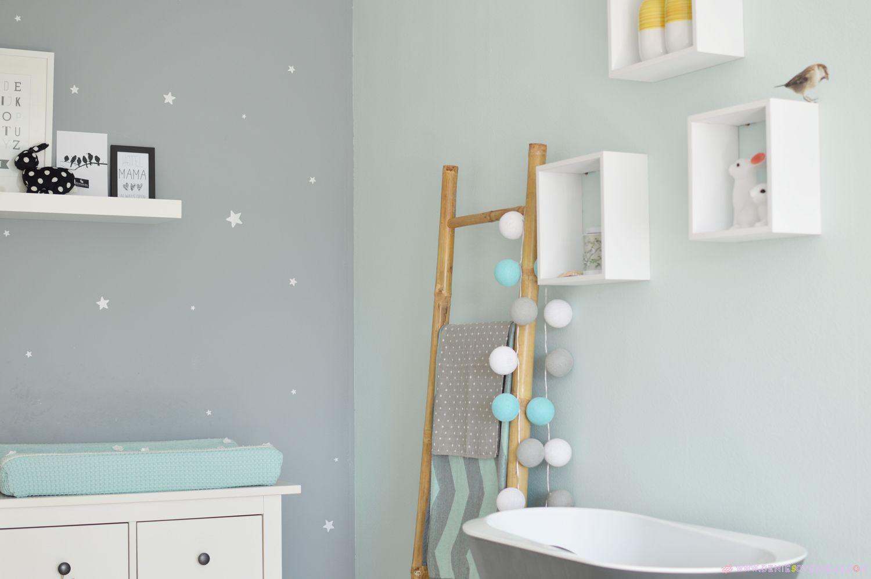 babykamer met mint, grijs en oker; ik wil in plaats daarvan wit, Deco ideeën