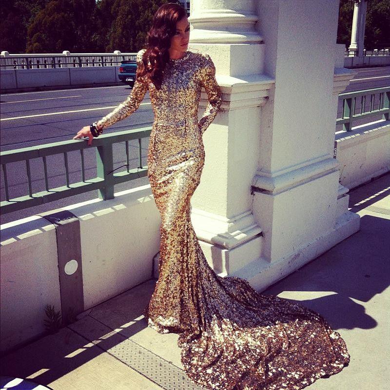 pas cher sexy abayas duba modest manches longues or robes de soir e paillettes robes de bal. Black Bedroom Furniture Sets. Home Design Ideas
