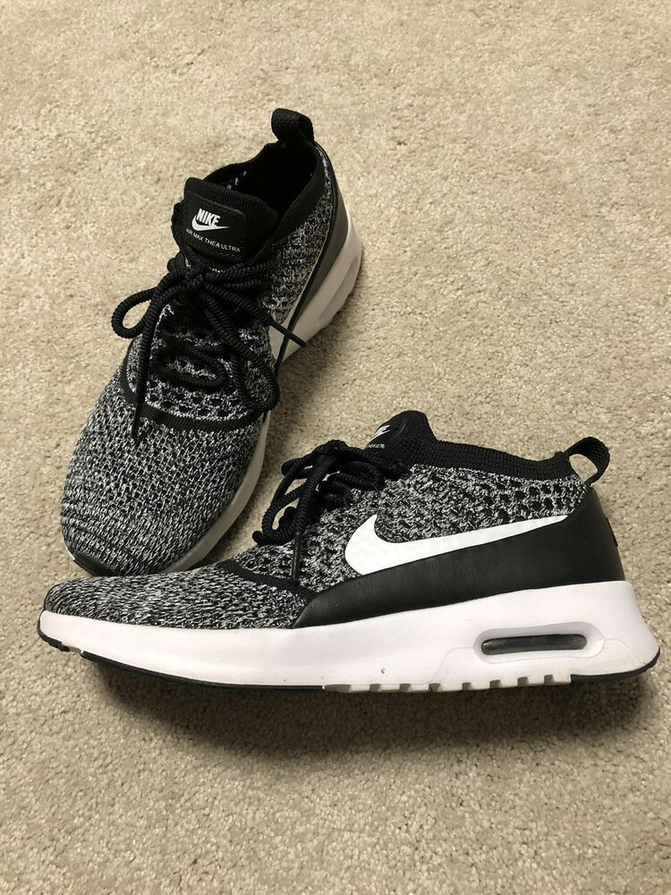 new style 36739 2ee4a Nike air max Thea ultra flyknit sneaker grey white Black 7.5 sweater knit  comfy - Nike