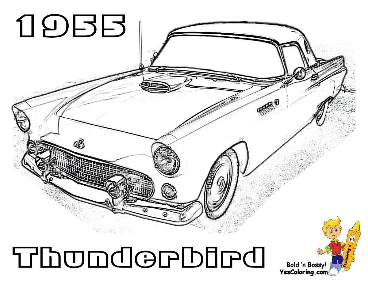 79 Cool Images Of Classic Car Coloring Book
