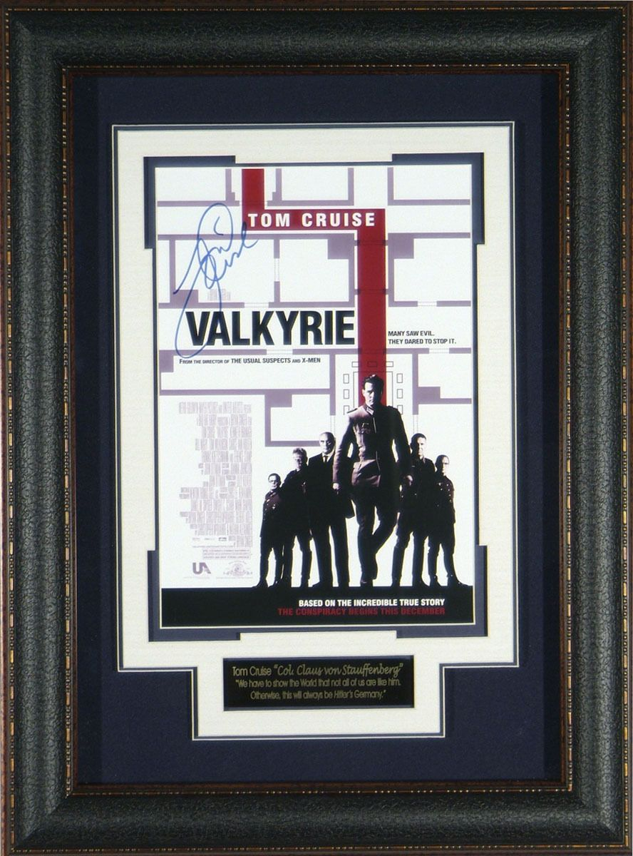 Valkyrie Tom Cruise Autographed 11x17 Framed Poster