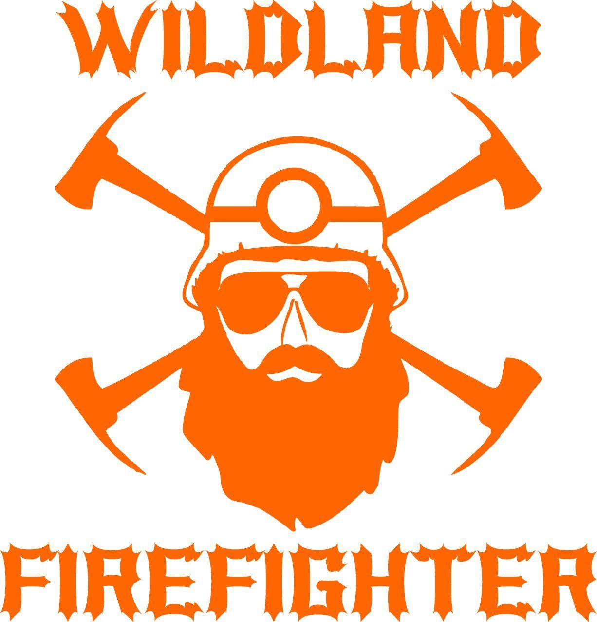 Wildland Firefighter Bearded Decal firefighting