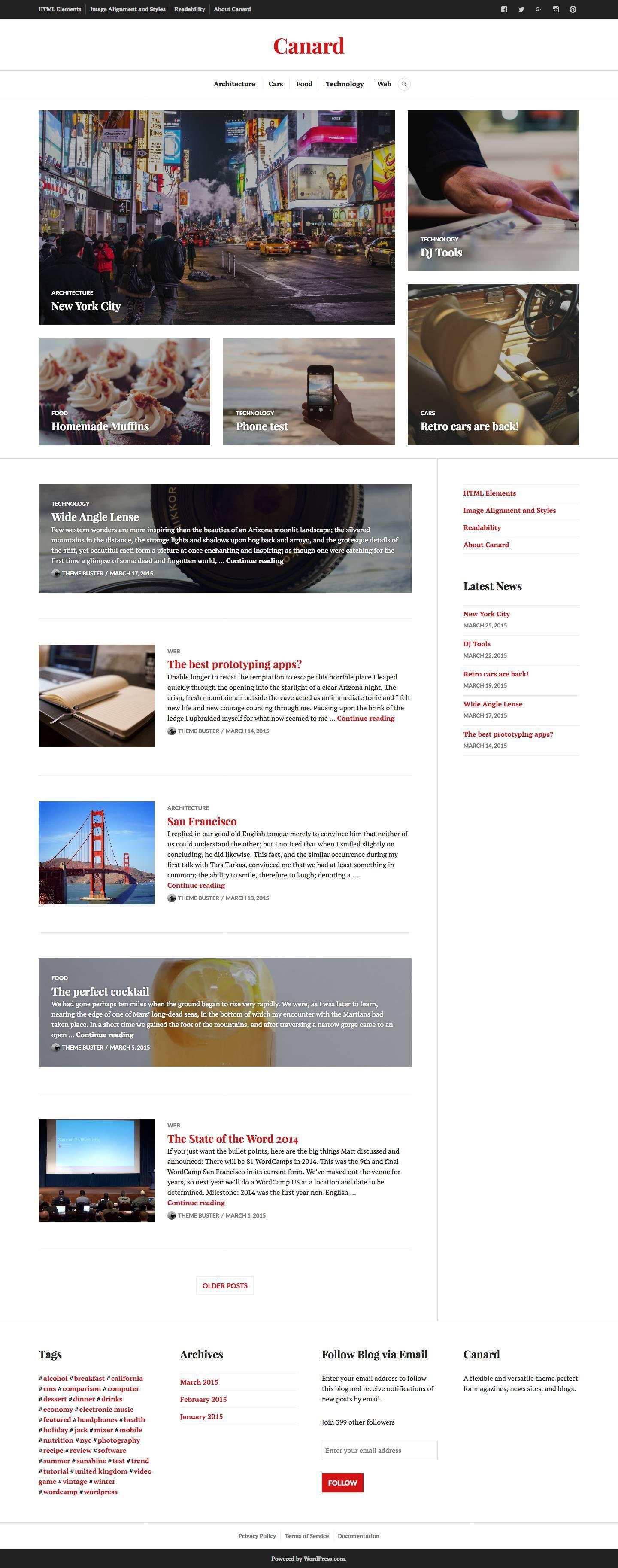 Canard Theme ‹ chemicalegypt — WordPress
