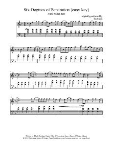 Six Degrees Of Separation The Script Easy Key Find More Free Sheet Music At Www Pia Ragsongs Com
