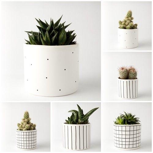 accessories - flowerpots and vases-ZESTAW 2 doniczki duże + 2 doniczki małe
