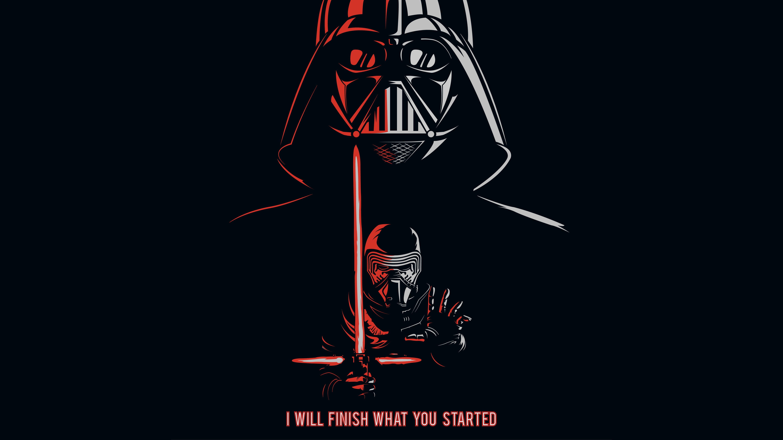 Darth Vader Kylo Ren Star Wars Popular Quotes 4k 5k Wallpaper Hdwallpaper Desktop Star Wars Wallpaper Darth Vader Wallpaper Ren Star Wars
