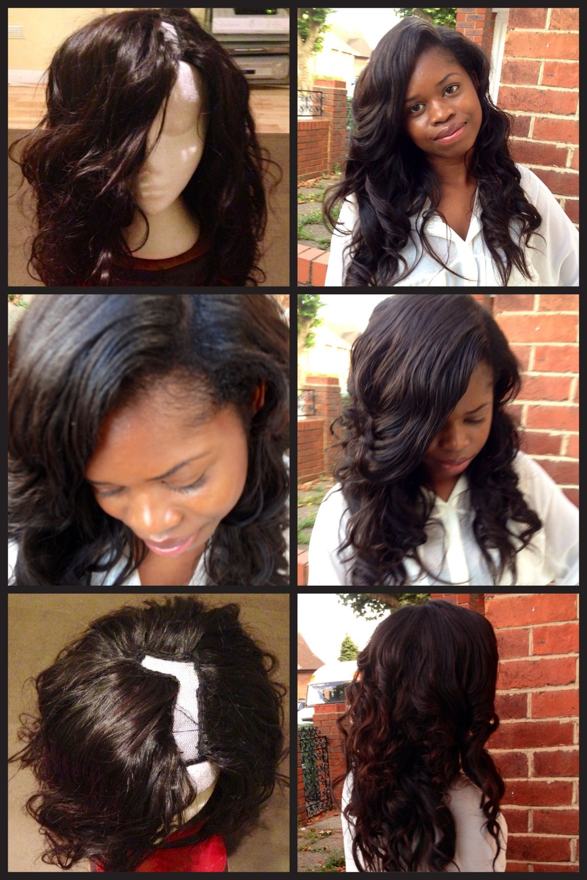 L Part Side Part Wig Brazillian Hair 14 16 18 And 20 Inches Tape In Hair Extensions Hair Styles Sew In Hairstyles