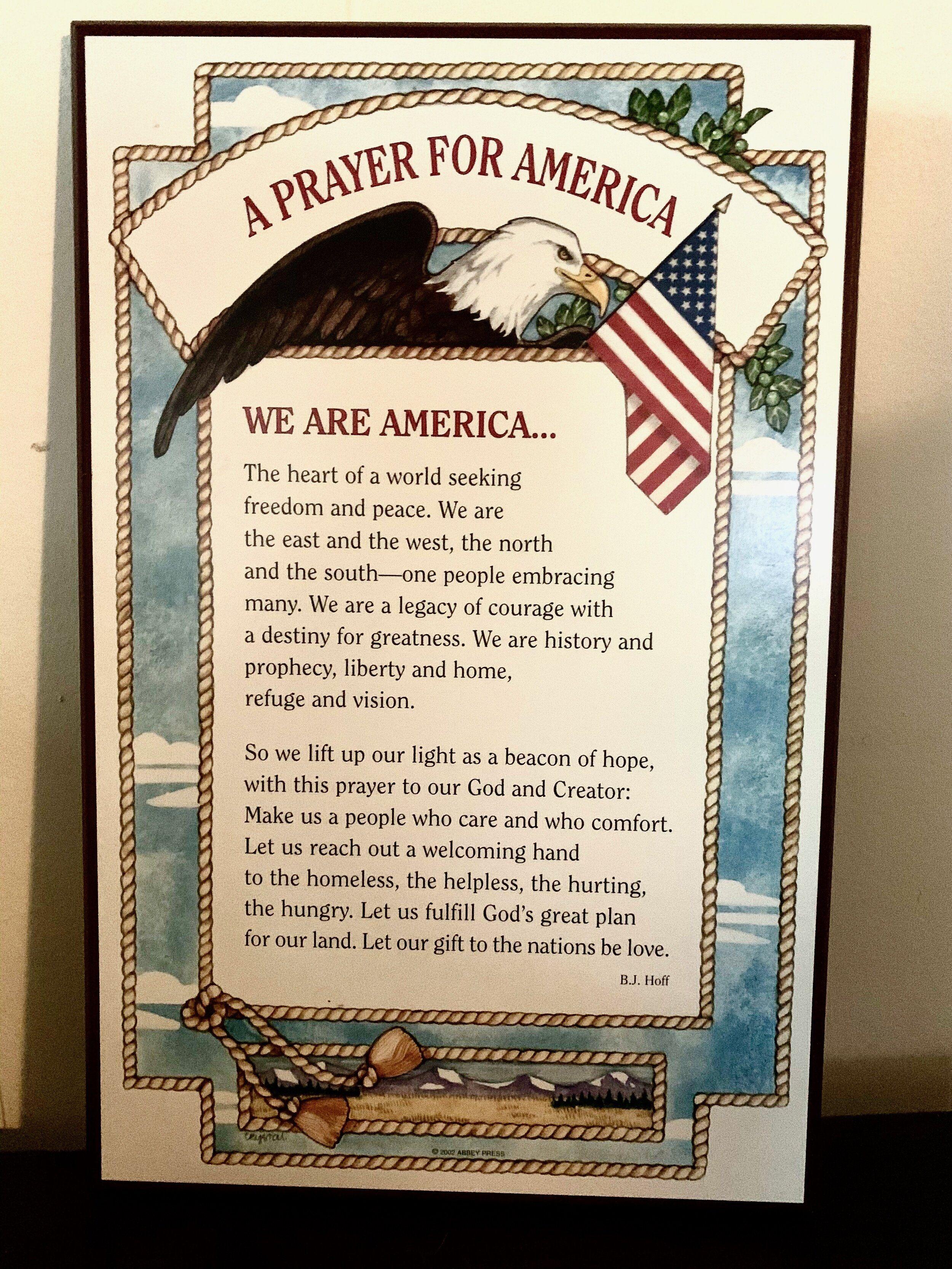 Patriotic Prayer For America In
