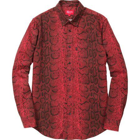 2846a71cac8c Supreme red snakeskin print shirt