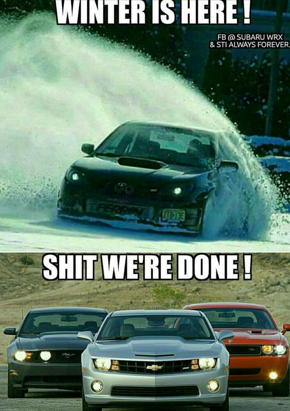 HA!  Awd is king baby!