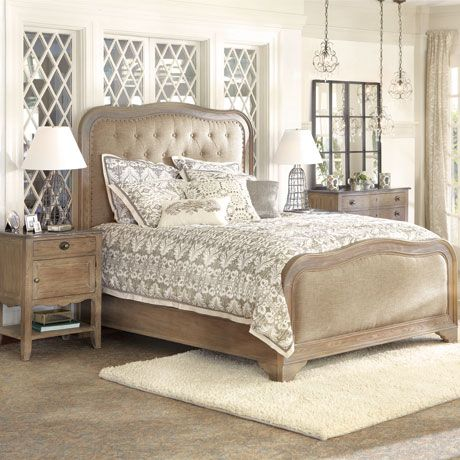 Belmont King Bed With Brass Hardware Arhaus Furniture Luxury Bedroom Furniture Living Room
