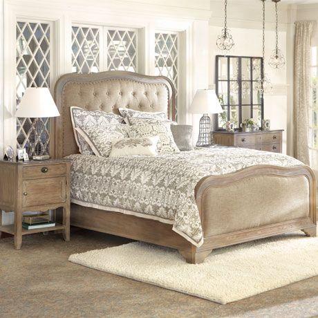 Belmont King Bed With Brass Hardware Arhaus Furniture