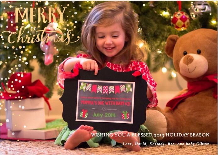 Christmas pregnancy reveal announcement – Cute Christmas Baby Announcements