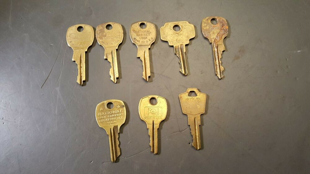 Details About Lot Of 8 Office Cabinet Desk Keys National