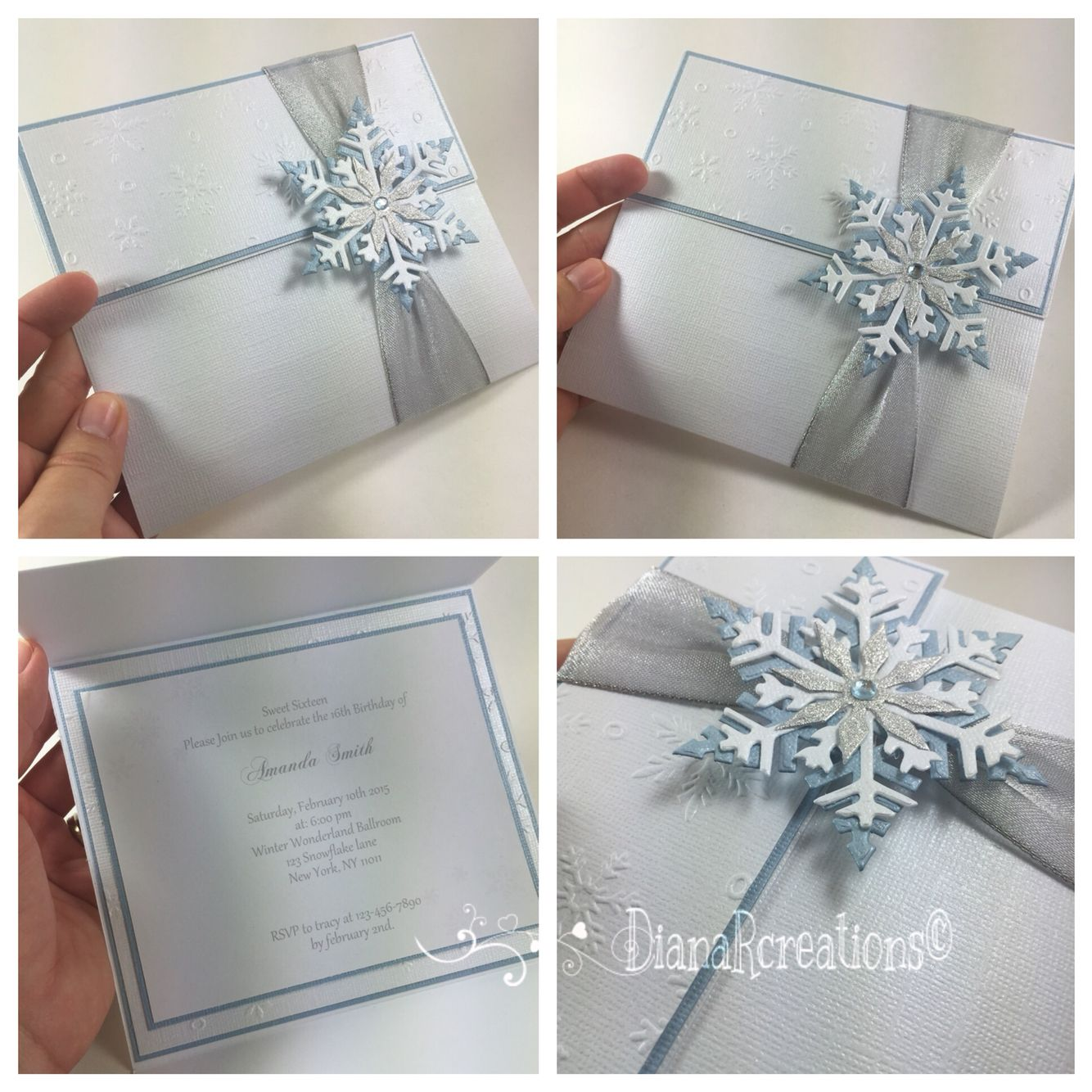 Cute Winter Wonderland Invitations! #dianarcreations #invitations #invites  #invite #handmade #