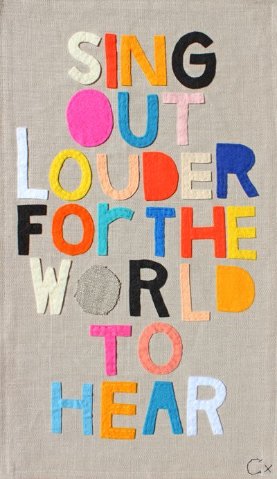 SING OUT LOUDER FOR THE WORLD TO HEAR // Rachel Castle