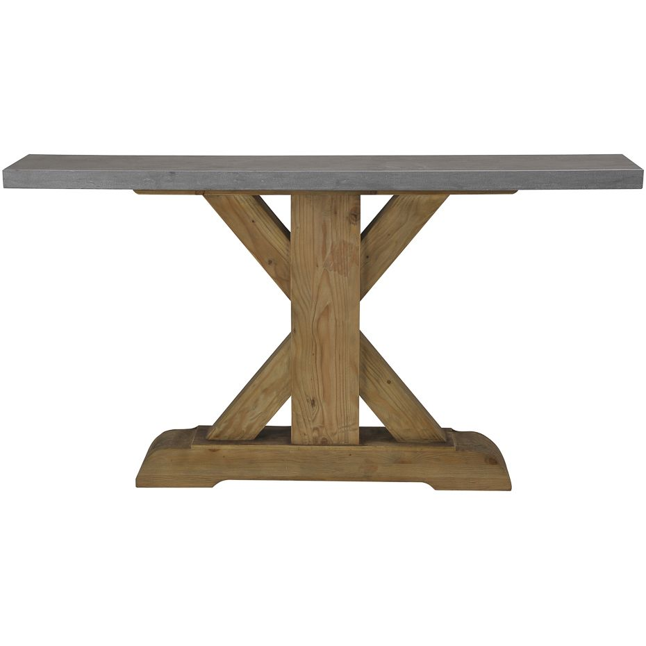 Urban Stone Top Console Table   Reclaimed Wood