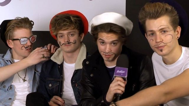 Omg The Vamps are so funny! and cute!!