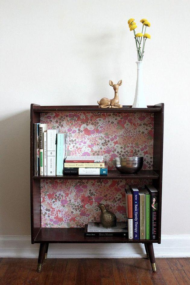 DIY: Cómo decorar muebles con papel pintado   Segundas oportunidades ...