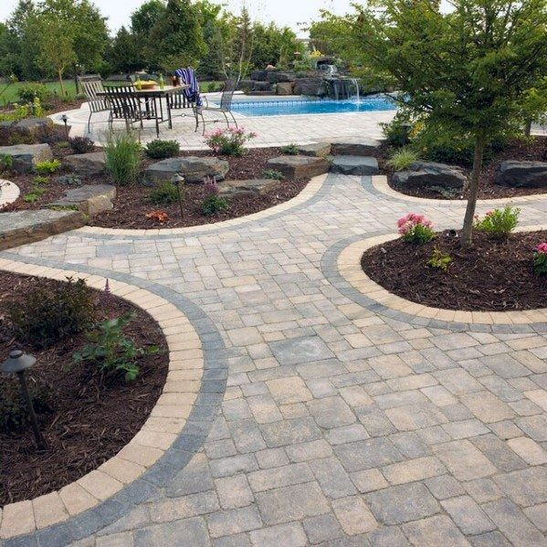 Top 60 Best Paver Patio Ideas - Backyard Dreamscape Designs #backyardremodel